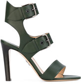 Paul Andrew double buckle sandal - women - Calf Leather/Leather - 36
