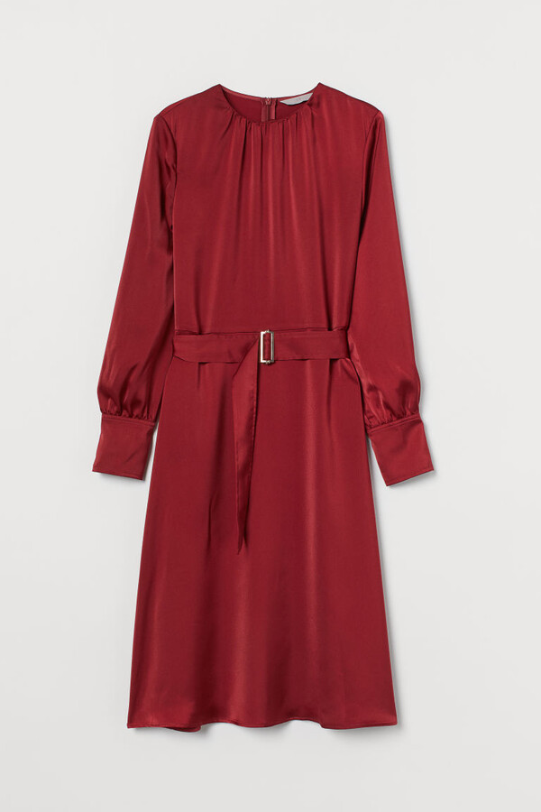 H&M Belted Dress - Red
