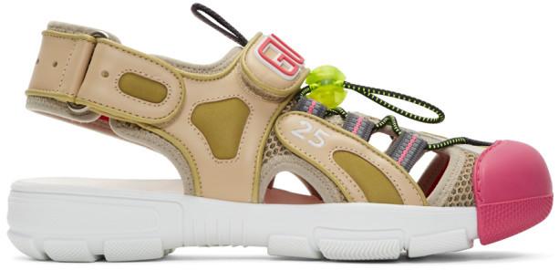 Gucci Beige Tinsel Sandals