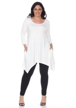 White Mark Plus Size Makayla Tunic /Top
