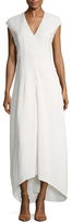 Narciso Rodriguez Cap Sleeve High Low Dress