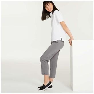 Joe Fresh Women's Four-Way Stretch Pants, Slate Grey (Size S)