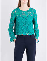Claudie Pierlot Cropped floral-lace top