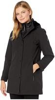 Vince Camuto Hooded Softshell with Bib V29737 (Black) Women's Coat