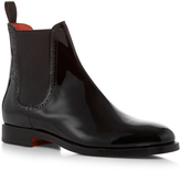 Santoni Patent Leather Chelsea Boots