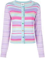 Michel Klein button striped cardigan