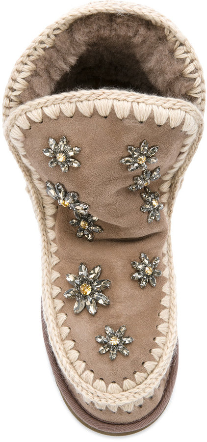 Mou embellished Inner Wedge boots