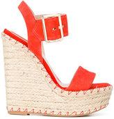 Elie Saab wedge sandals - women - Kid Leather/rubber/Leather/Foam Rubber - 38