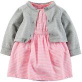 Carter's Baby Girl Bodysuit Dress & Cardigan Set