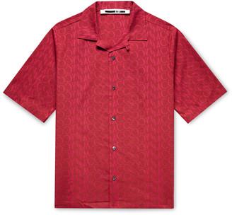 McQ Camp-Collar Logo-Print Cotton Shirt - Men