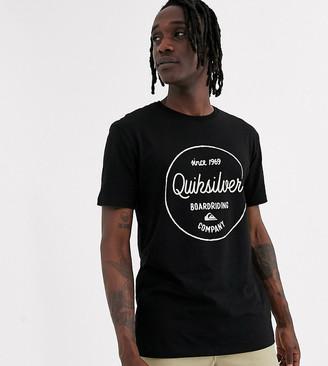 Quiksilver black graphic t shirt
