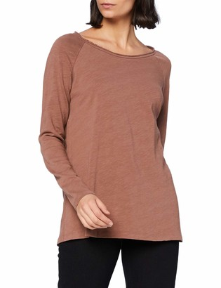 Noa Noa Women's Essential Heavy Cotton SLUB T-Shirt Long Sleeve Blouse