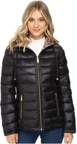 Calvin Klein Reversible Short Hooded Packable Down Women's Coat