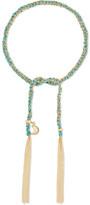 Carolina Bucci Wisdom Lucky 18-karat Gold And Silk Bracelet - one size