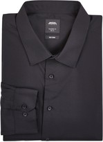 Burton Mens Big & Tall Black Slim Fit Essential Shirt