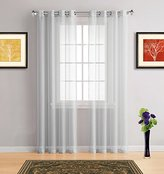 Warm Home Designs Short Silver Sheer Window Curtains with Grommet Top for Bedroom, Kitchen, Kids Room or Living Room, 2 Voile Panel Drapes 54-Inch-by-63-Inch - K Silver 63""