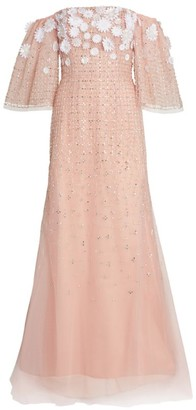 Carolina Herrera Off-The-Shoulder Embellished Trumpet Gown
