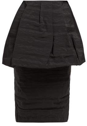 Simone Rocha Peplum Taffeta High-rise Pencil Skirt - Womens - Black
