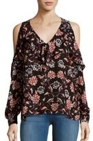 Parker Floral Printed Cold Shoulder Top