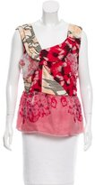 Michael Van Der Ham Silk Printed Top w/ Tags