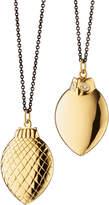 "Monica Rich Kosann 18K Gold Owl Pendant Necklace, 32"""