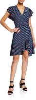 Diane von Furstenberg Avaya Printed Flounce Wrap Dress