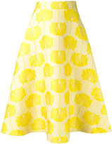 P.A.R.O.S.H. embroidered flared skirt