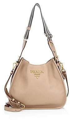 Prada Women's Small Daino Hobo Shoulder Bag