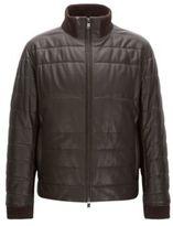 HUGO BOSS Lambskin Quilted Jacket Neffo 38RBrown