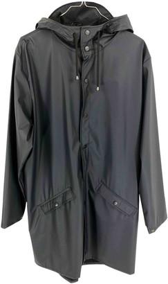 Rains Blue Polyester Coats