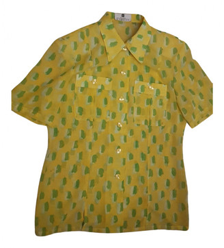 Givenchy Yellow Silk Tops