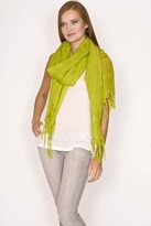 LoveQuotes Scarves Love Quotes Linen Knotted Fringe Scarf in Citrine