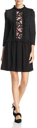 Kate Spade Floral-Embroidered Dress