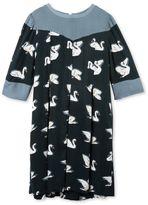 Stella McCartney bessie blue swan print dress