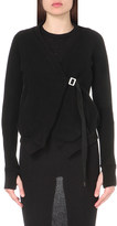Boris Bidjan Saberi Wrap-style cotton and cashmere-blend cardigan
