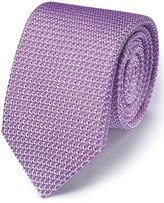 Charles Tyrwhitt Lilac Silk Italian Luxury Plain Grenadine Tie