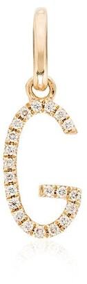Rosa de la Cruz 18kt gold G diamond charm