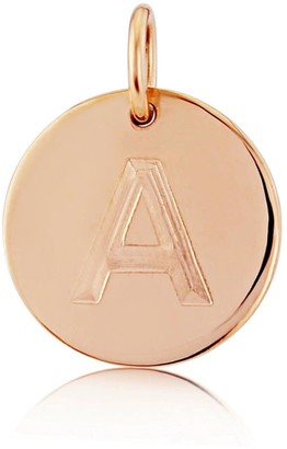 Auree Jewellery Westbourne 9Ct Rose Gold Initial Disc Pendant