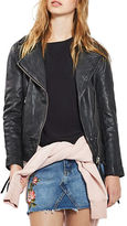 Topshop Jagger Leather Biker Jacket