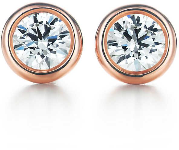 Tiffany & Co. Elsa Peretti Diamonds by the Yard earrings in 18k rose gold