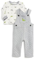 Little Me Infant Boy's Dino Overalls & T-Shirt Set
