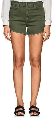 L'Agence Women's Ryland Denim Cutoff Shorts - Green
