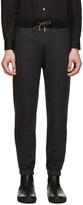 Christopher Kane Grey Wool Drawstring Lounge Pants