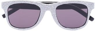 Saint Laurent Glitter square sunglasses