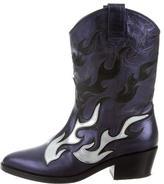 Chiara Ferragni Metallic Mid-Calf Boots