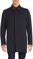 Corneliani Men's Solid Point Collar Raincoat