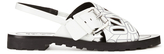 Kenzo Women's Kruise Buckle Leather Sandals White