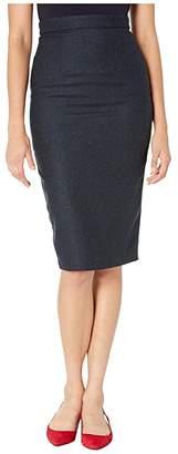 Unique Vintage Micheline Pitt for Suit Skirt (Navy) Women's Skirt
