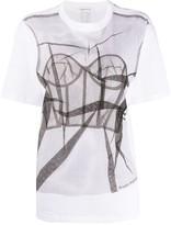 Alexander McQueen tulle bodice-print T-shirt