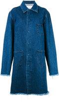 Marques Almeida Marques'almeida - long boxy denim coat - women - Cotton - L